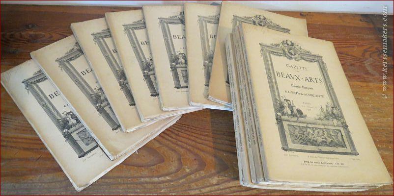 GAZETTE DES BEAUX-ARTS. - Gazette des Beaux-Arts. Courrier Européen de l'Art et de la Curiosite. (Janvier - Decembre / 547e - 558e livraison / 12 volumes).