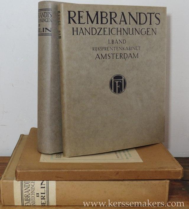 FREISE, KURT / KARL LILIENFELD / HEINRICH WICHMANN. - Rembrandts Handzeichnungen. I. Band Rijksprentenkabinet zu Amsterdam. II. Band Königl. Kupferstichkabinett zu Berlin. (2 volumes).