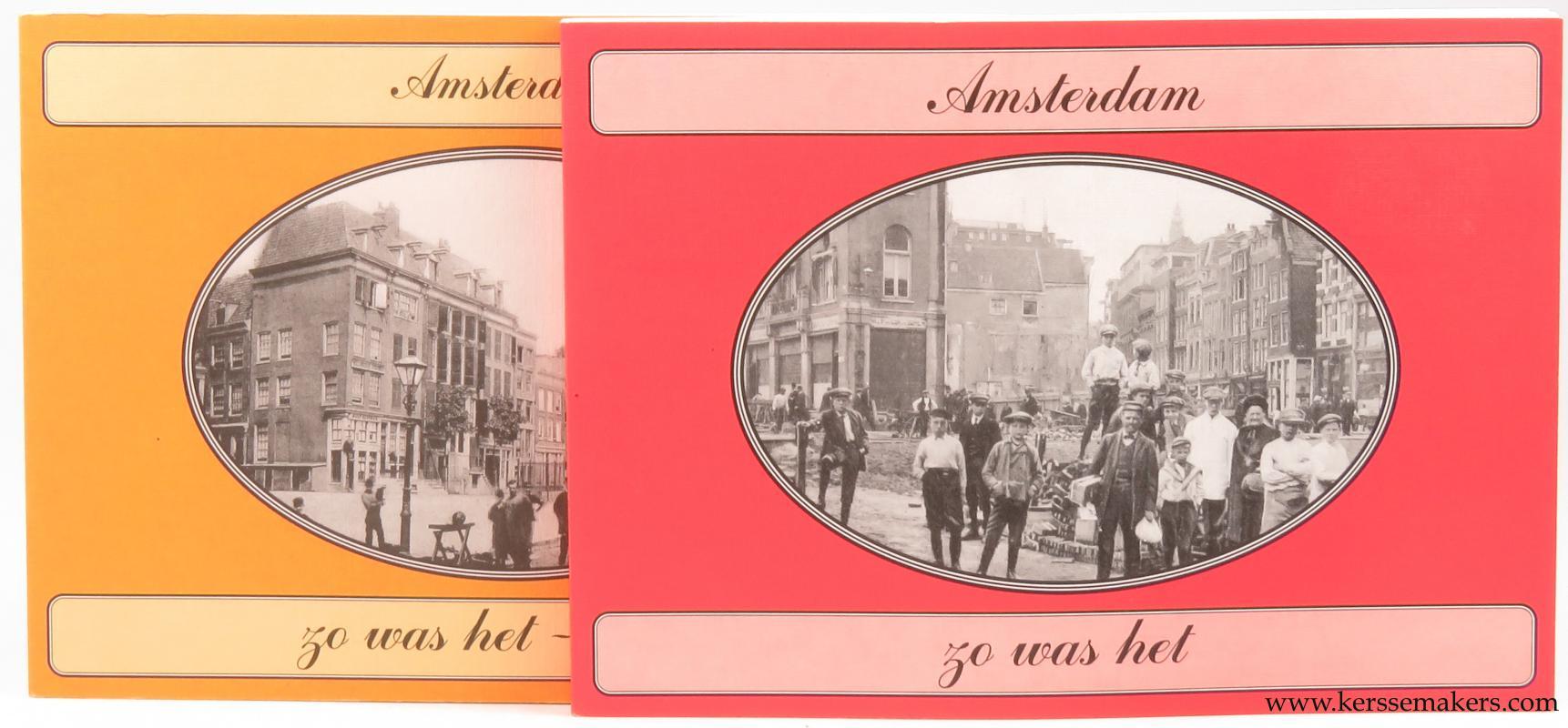 REGT-ADMIRAAL, G.A.M. - Amsterdam zo was het & Amsterdam zo was het deel 2. Prentbriefkaarten uit de collectie van Reijer de Regt, geselecteerd en van tekst voorzien door Gerard Koppers (2 volumes).