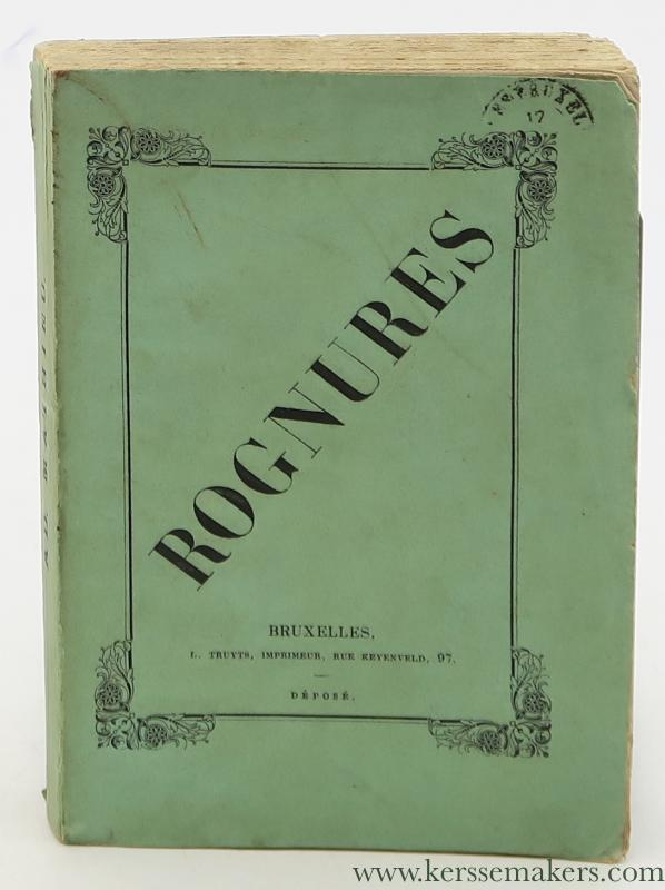 MATHIEU, ADOPLHE. - Rognures & Oeuvres en vers de Adolphe Mathieu. Tables.